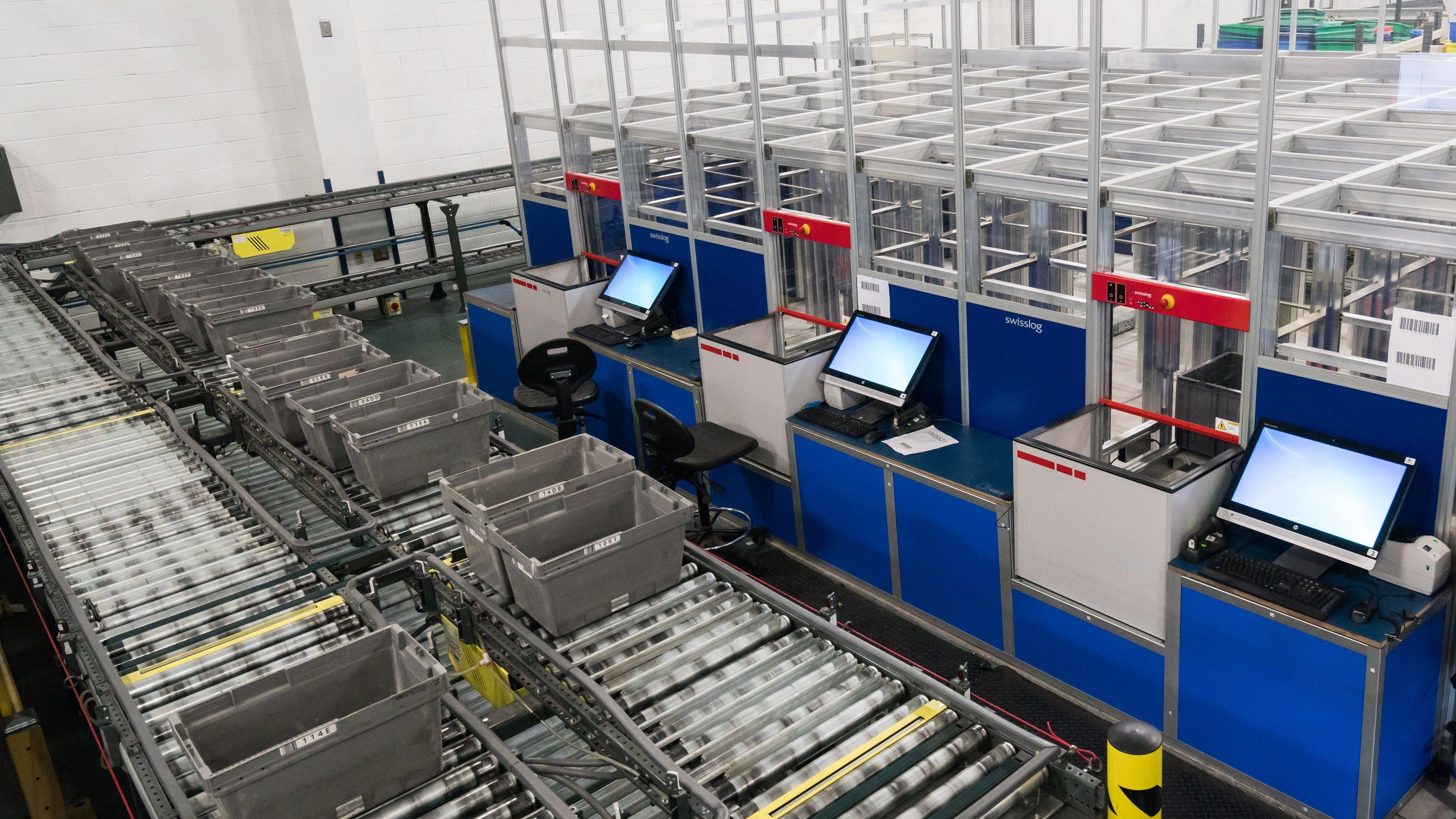Radwell International Automated Warehouse Swisslog