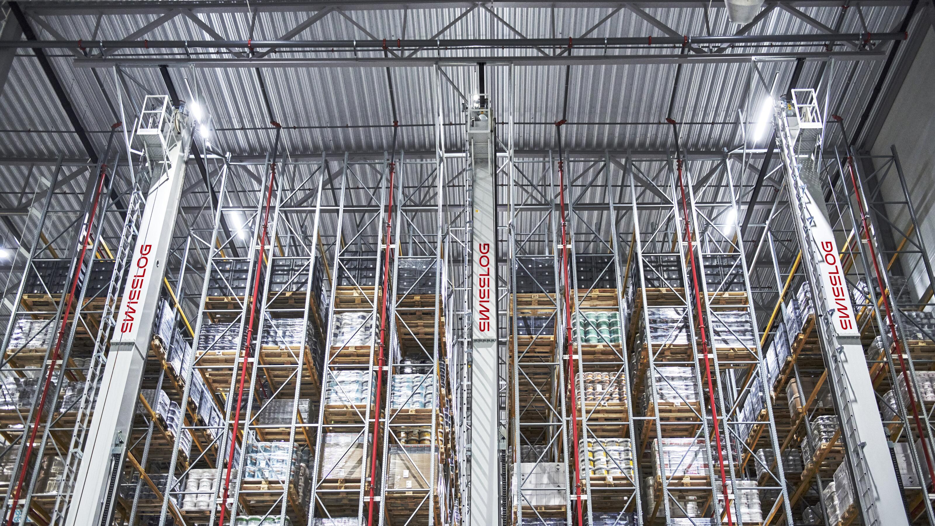 Automatisierte Lagersysteme fr Paletten Swisslog